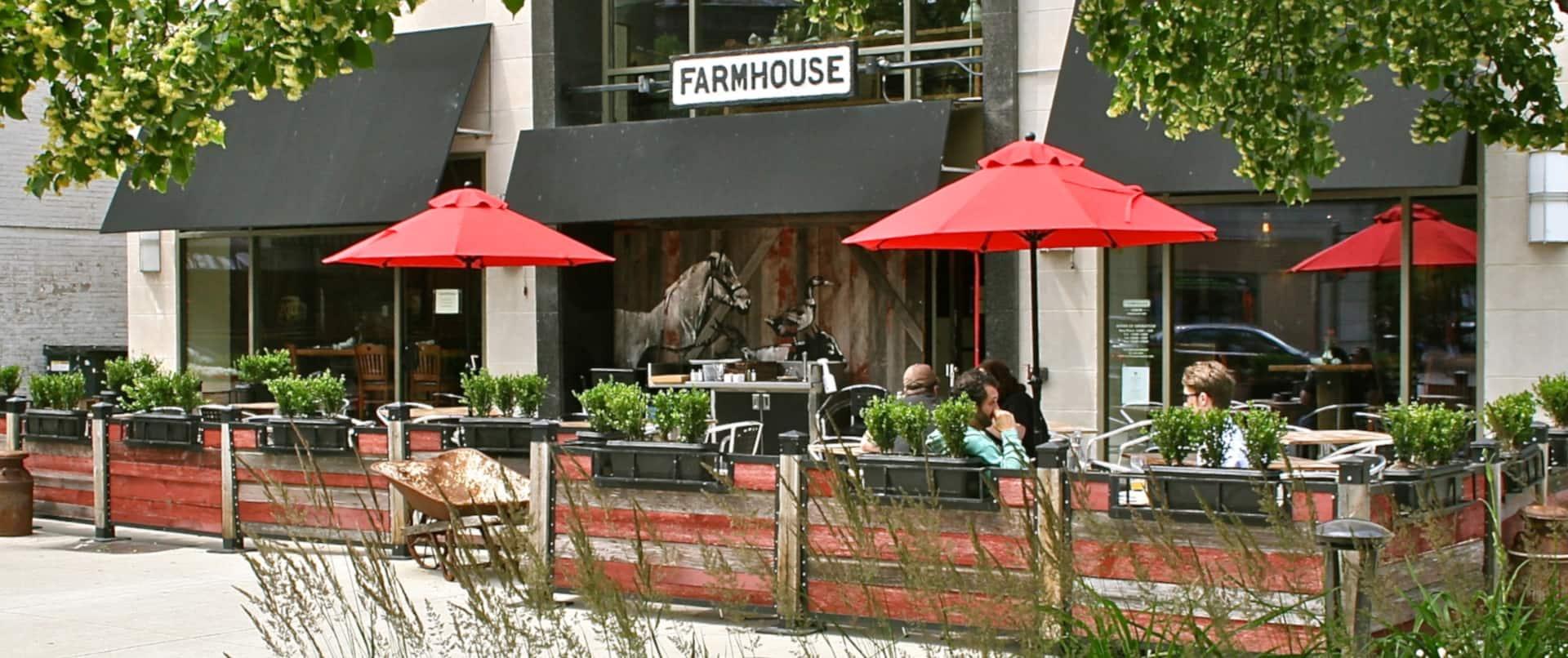 Farmhouse Restaurant with Outdoor Patio