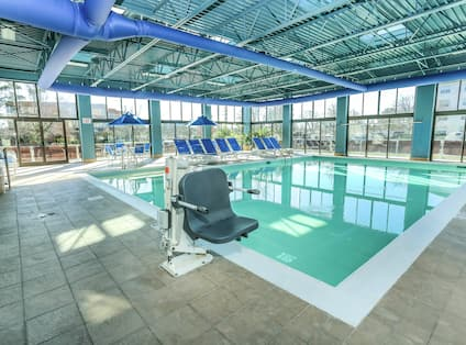 Indoor Pool With Accessible Access Lift