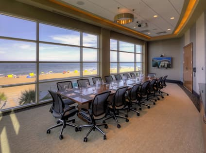 Executive Boardroom with Beach View