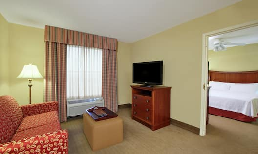 King Suite Living Area with HDTV