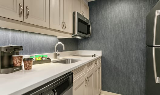 Urban Suite Kitchen with Sink, Dishwasher, Refrigerator, Microwave and Two-Burner Cooktop