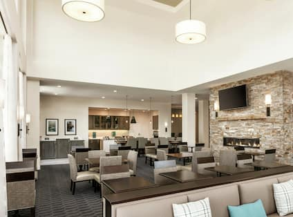 Lodge Seating Area with Tables and Chairs for Relaxing or Dining