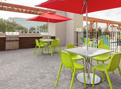 Outdoor Patio with Grill and Seating