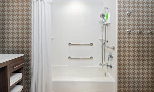 Accessible Bathroom with Bathtub and Shower