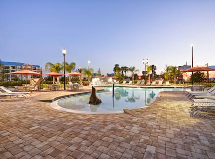 Homewood Suites by Hilton Orlando Theme Parks - Pool Area in Half Light