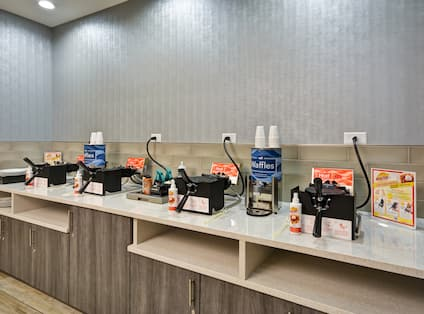 Homewood Suites by Hilton Orlando Theme Parks - Waffle Station at Breakfast Buffet