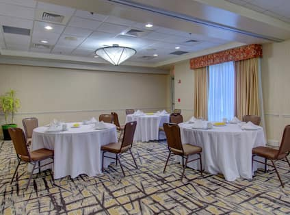 Meeting Room with Round Tables