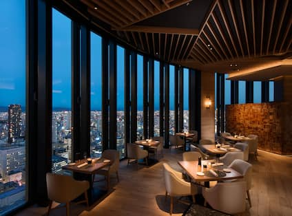 C Grill with views of Osaka