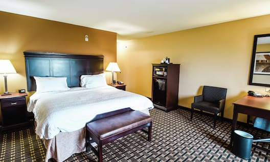 Guest Room with Desk and Soft Chair