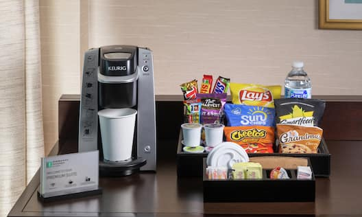 Premium Guestroom Coffee Maker And Amenities