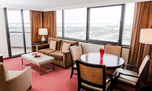 Single King Two Room Corner Balcony Suite