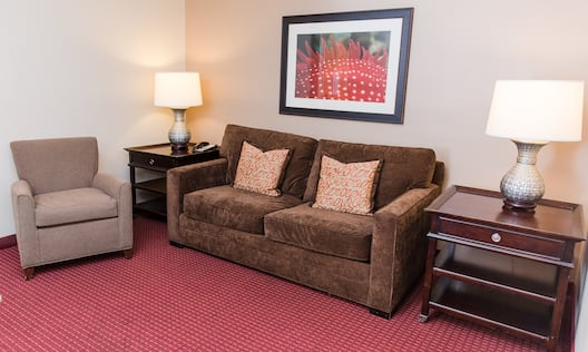 Double Queens Two Room Guestroom Suite Seating