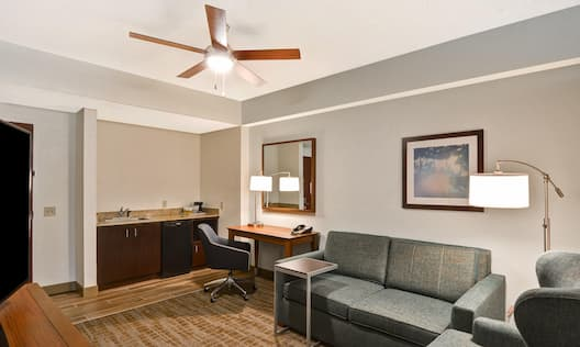One Bedroom King Suite Seating Area
