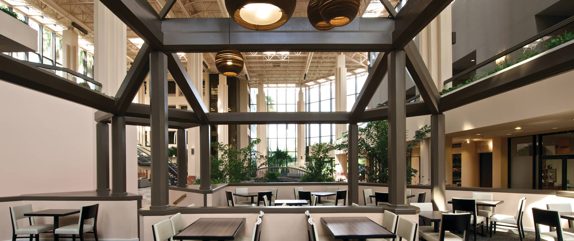 Dining Tables in Atrium-Style Lobby