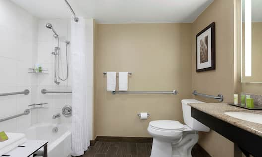 Accessible Bathroom with Tub and Seat