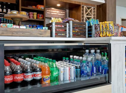 snack shop with food and drinks
