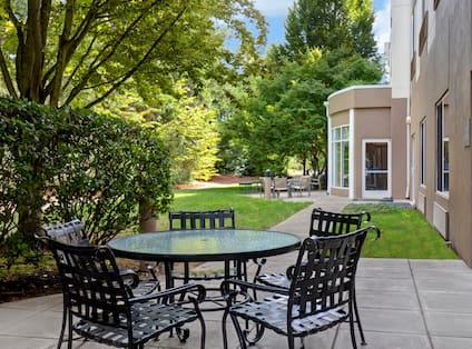 exterior patio in the day