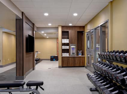 fitness center with weights