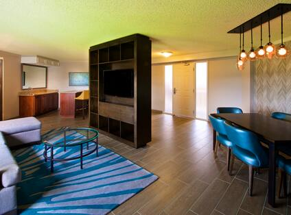 Embassy Suites lounge area