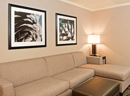 King Suite Living Room with Couch