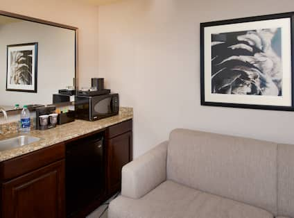 Room with Wet Bar and Couch