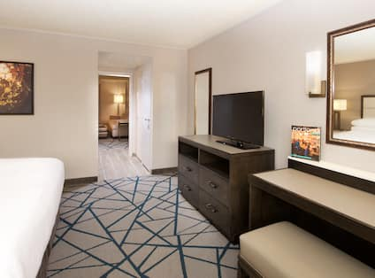 Guestroom with King Bed and Television