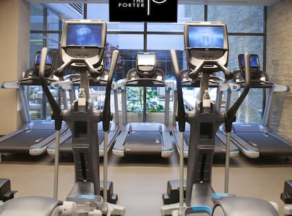 Fitness area with cardio machines