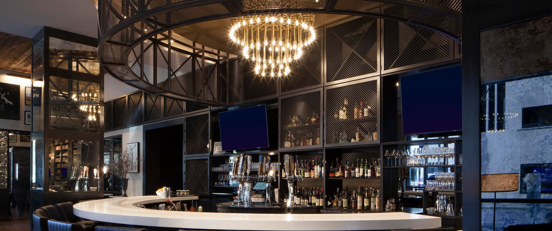 Bar area with stools