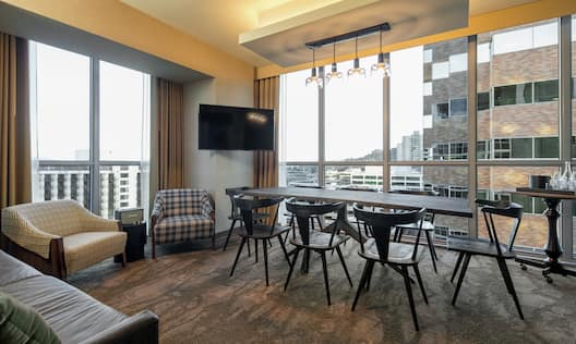 Accessible Guest Suite Living Area