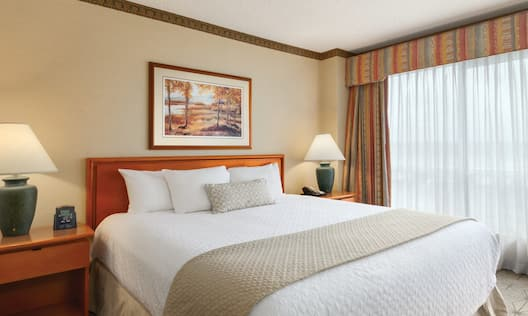 Guestroom with King Bed and End Tables
