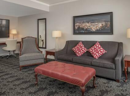 Suite Lounge Area with Work Desk