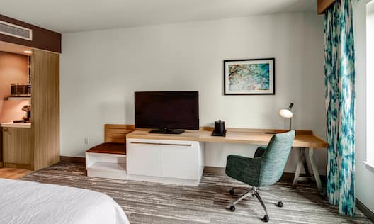 Work Desk with TV and Chair