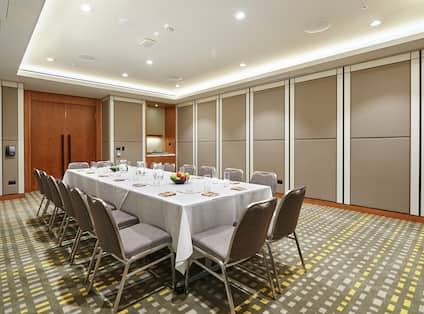 Acacia Boardroom with Table and Chairs