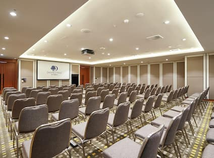 Jarrah Meeting Room with Chairs and Projector Screen