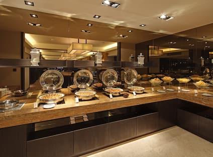 Executive Lounge with Food Setup to be Served