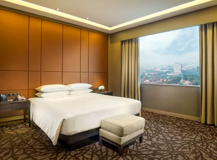 King Suite with Large Window offering Views of the City