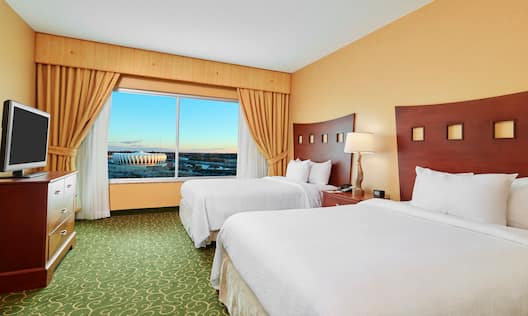 Two Beds in Guest Suite with Coliseum View