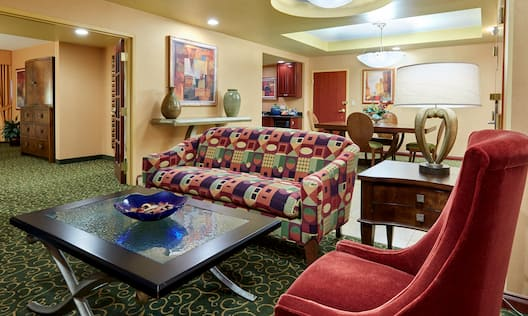 Living and Dining Area of Presidential Suite
