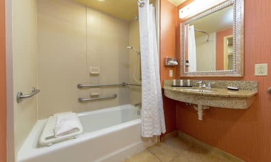 Accessible Bathroom with Shower and Tub Bench