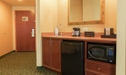 In-room Kitchenette and Wet Bar
