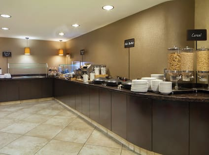 Breakfast Buffet Area with Food Preperation Counters