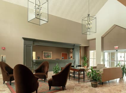 Hotel Lobby with Sitting Area
