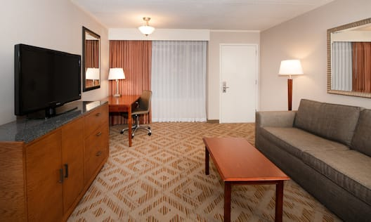 Our suites are elegantly appointed with modern furnishings and chic décor.