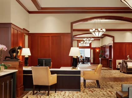 Main Lobby and Concierge Desk