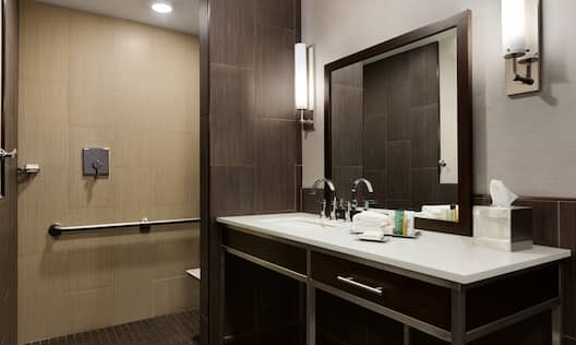 Deluxe Accessible Bathroom with Roll-in Shower
