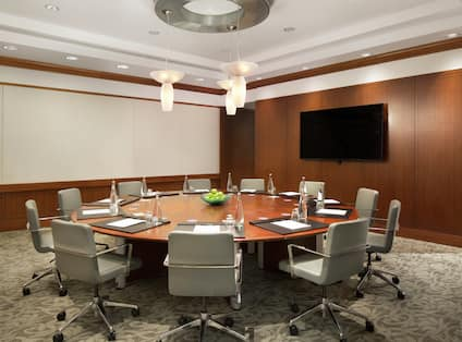 Boardroom Conference Table and HDTV
