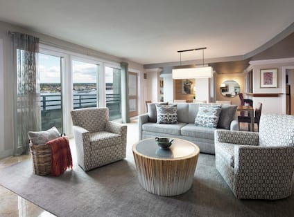 Suite Living Area with Sofa and Two Armchairs