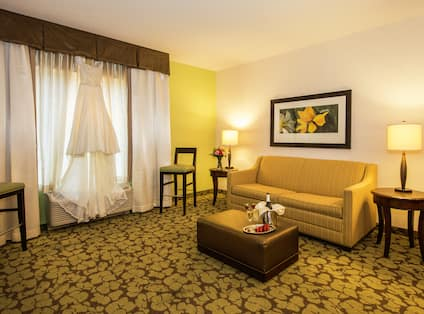 Hotel Bridal Suite Living Room with Sofa