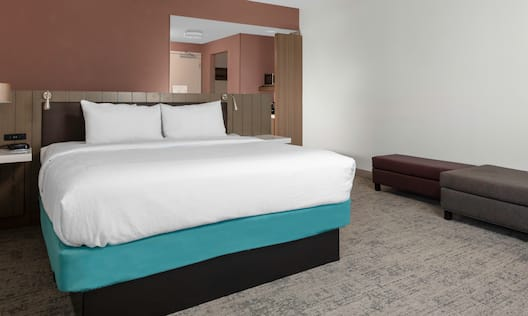 Guest Room with a Large Bed