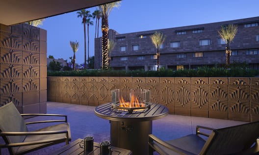 Resort Room Patio With Firepit